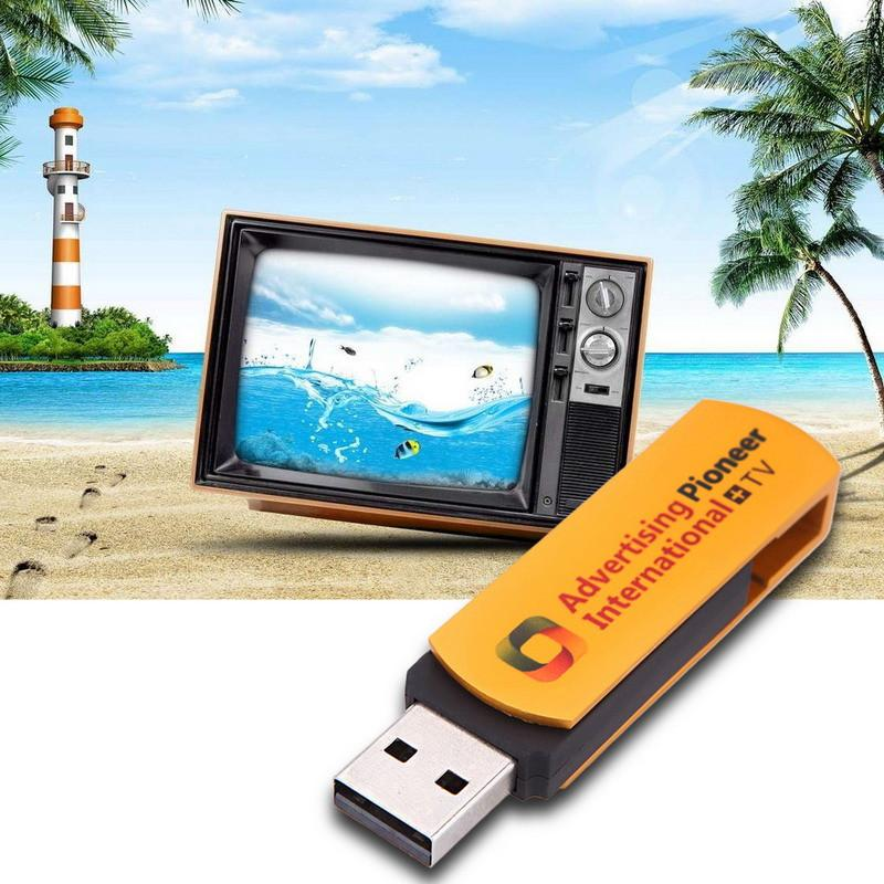 Multifunctional Golden USB Worldwide Internet TV and Radio Player Dongle