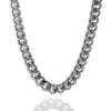 Chains - 10mm Platinum Miami Cuban Curb Chain -   jetcube
