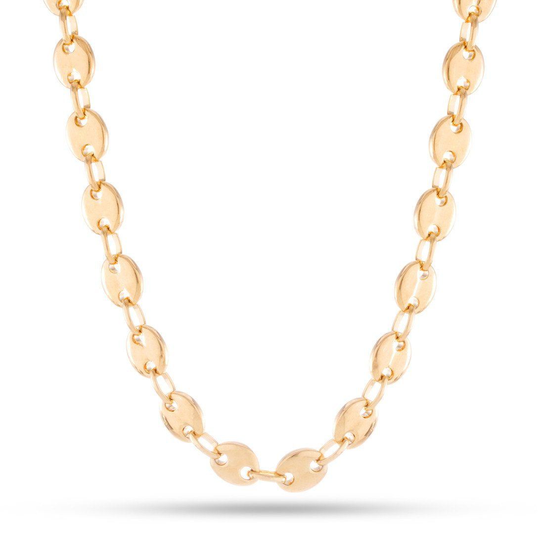 Chains - 11mm, 14K Gold Stainless Steel G-Link Chain -   jetcube