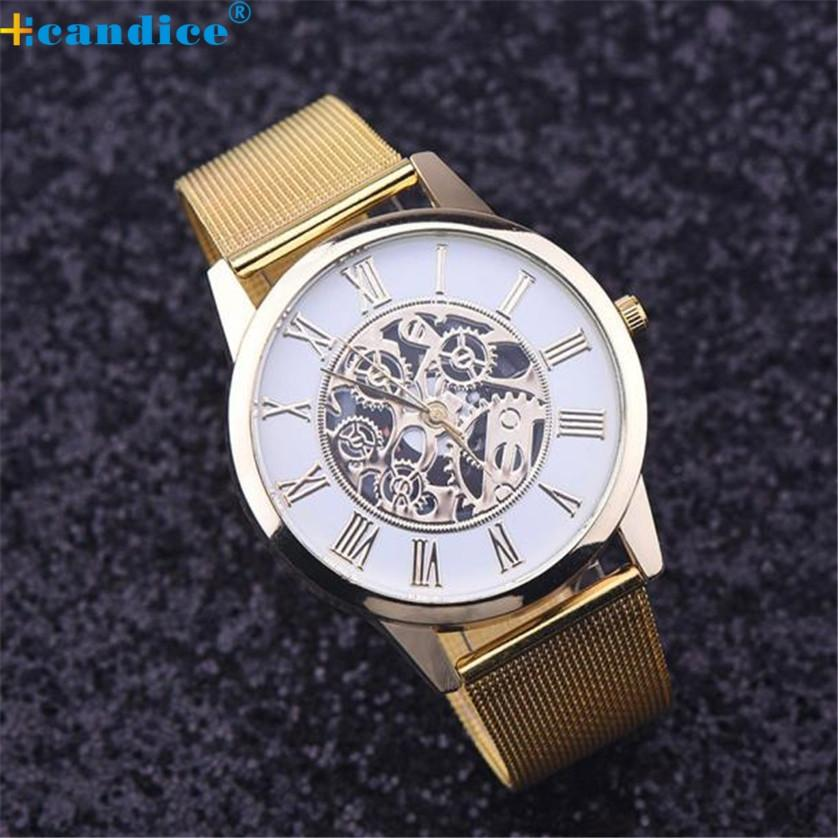 New Fashion Men Watch Rome Digital Classic Gold Quartz Stainless Steel Wrist Watch Luxury Gifts High Quality Levert Dropship 12