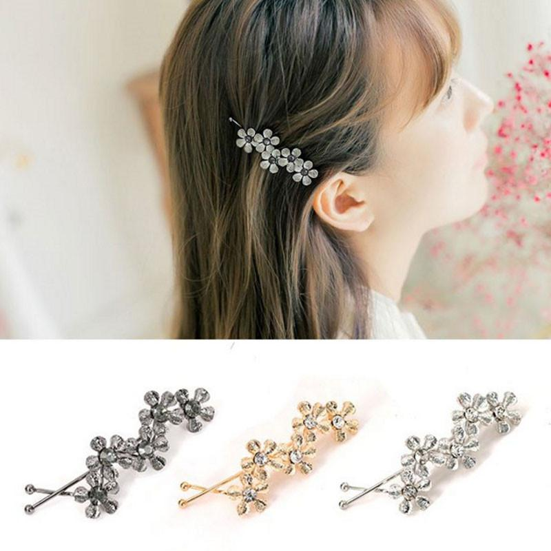 New Wave Shaped Simple Bobby Pin Five Pcs Flowers Hairpins Hair