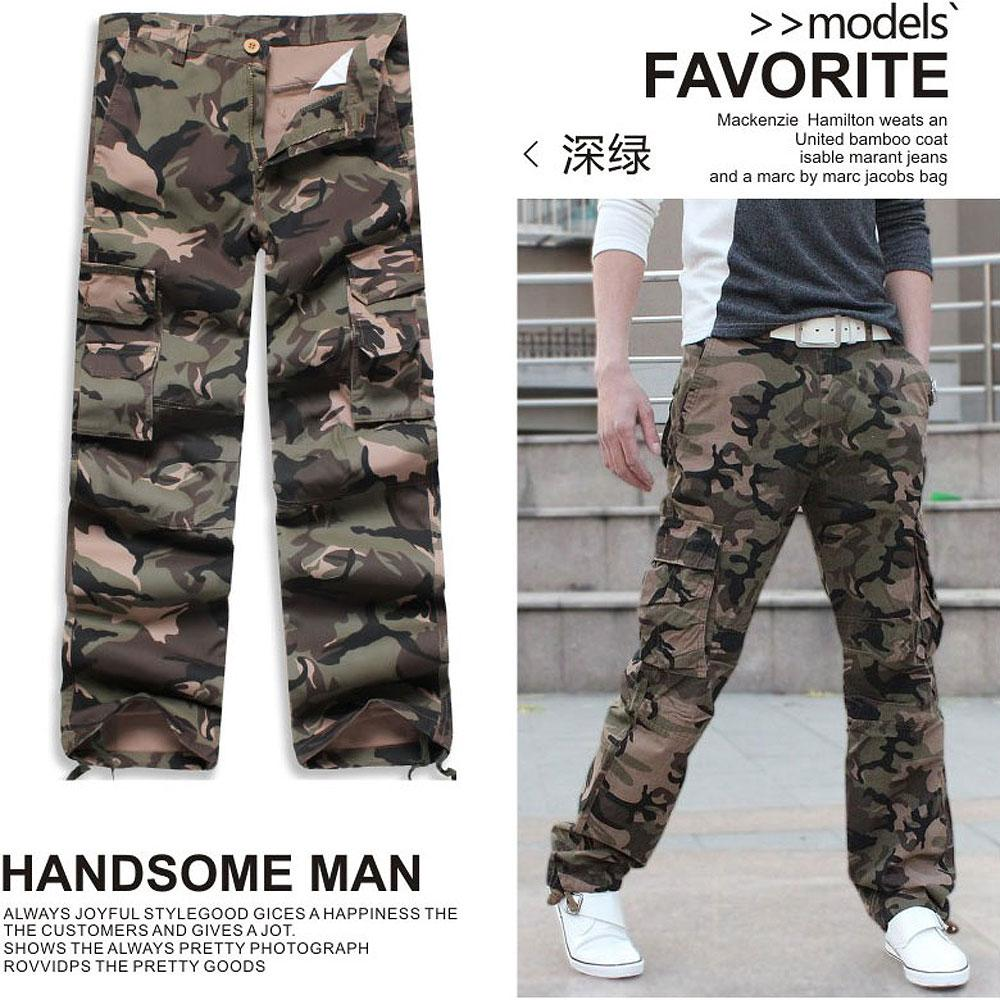 Stylish Men/'s Cargo Military Loose Pants Casual Leisure Cotton Trousers Size
