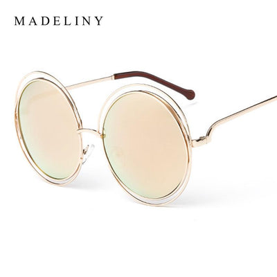 Newest Fashion Carlina Round Wire-Frame Sunglasses 2016 New Vintage ...