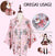 """Onegai Usagi"" Praying Rabbit Women's Japanese Kimono Style Kawaii Blossom Bunny Trench Cute Lolita Loose Outwear 5Colors"