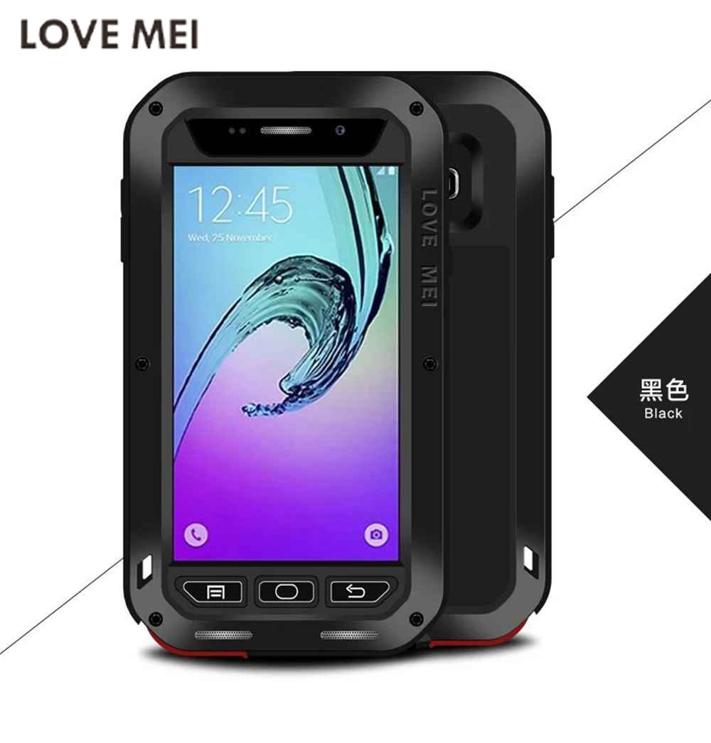 big sale 39447 775a6 Original LOVE MEI Capa For Galaxy A3 A5 2017 Waterproof Powerful  Metal+Silicone Case for SAMSUNG Galaxy A3 A310 A5 A500 A7 S7 S8