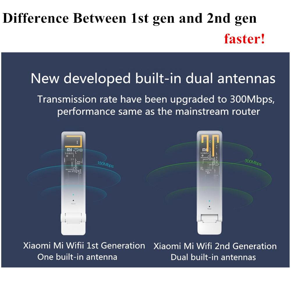 Original Xiaomi Mi Wifi Amplifier 2 Two Wireless Router Mini Wi Fi Range Repeater Extender 300mbps Network Expander