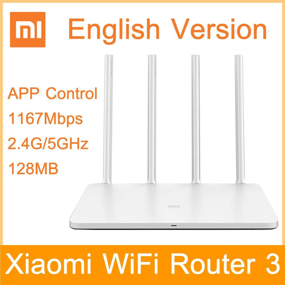 Original Xiaomi Wifi Router 3 English Version 1167mbps Repeater Extender Reapeter 24g 5ghz 128mb Dual