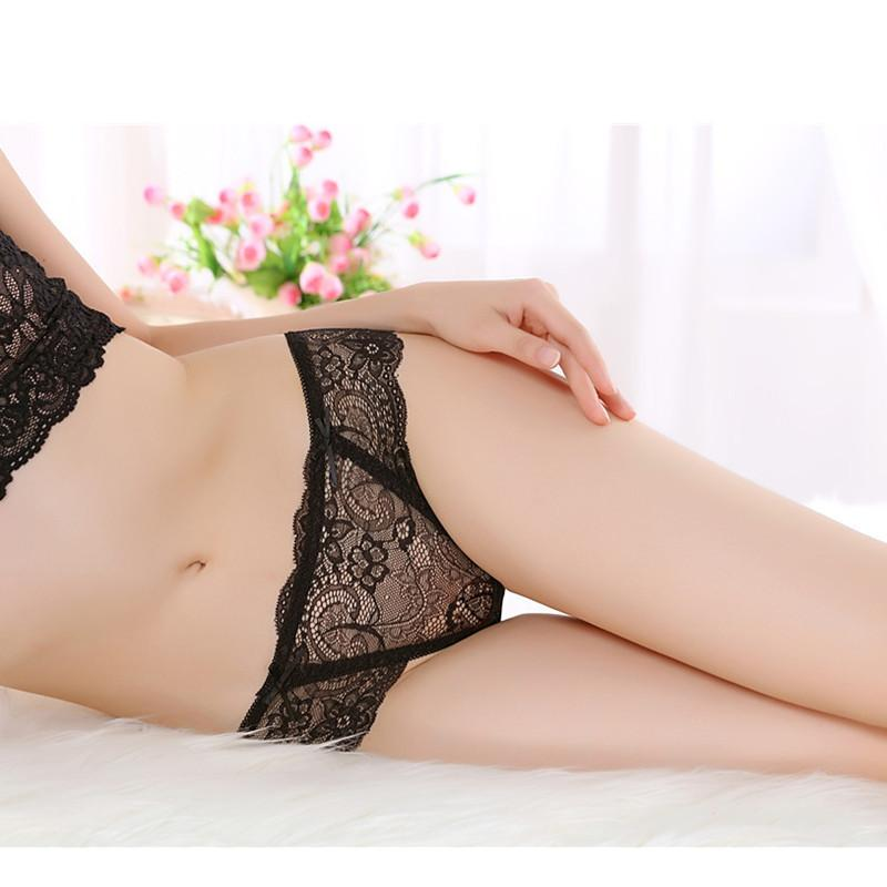 Panties For Ladies Sexy Women's Briefs G-Strings Underpants Sexy G String Women Lace Transprent Low Waist Thongs Underwear Brief