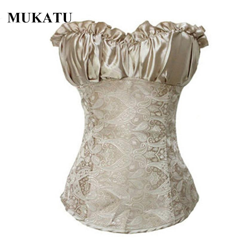 Plus Size Steampunk Corset Bodice Waist Shaper Women Sexy Overbust Corselet Corsets and Bustiers Lace Up Waist Trainer Corset