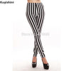 Plus size xl 2xl 3xl 4xl  women black white stripes leggings milk leggings galaxy leggings girl Leggings