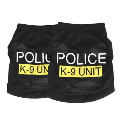 "- ""Police "" Unisex Pet Clothes Puppy Dog Cat Vest T Shirt Apparel Clothing -   jetcube"