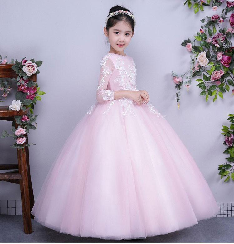 42f06f3a1 Cheap Lace Ball Gown Little Bridal Flower Girls Dresses For