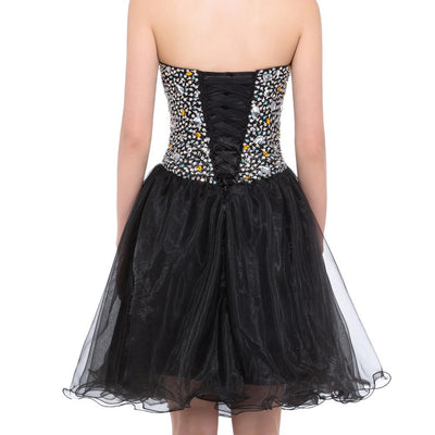 Prom Dresses 2017 Grace Karin Black Ball Gown Sweetheart Crystals ...
