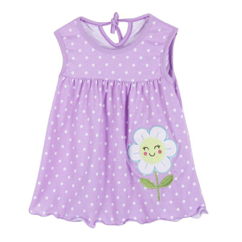 Random Color Summer Baby leeveless Printed A-Line Dress One Piece Mini  Dress Cute Infant 8c2378b00