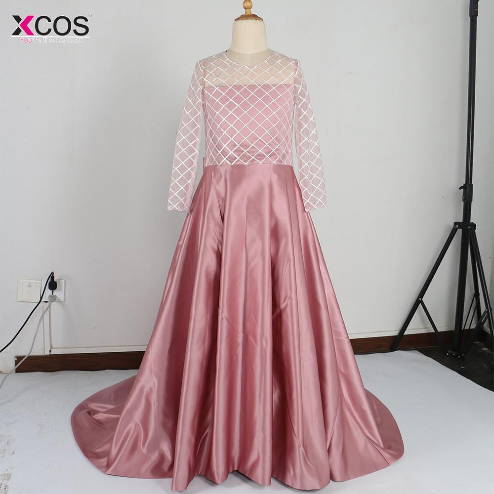 Real Photo Blush Pink Flower Girl Dress Kids Ball Gown Evening Gowns ...