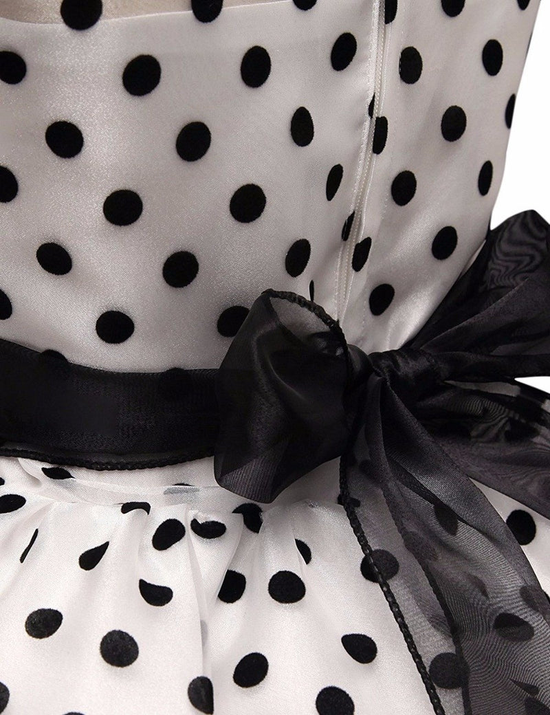 Retail New Design Rose Polka Dot Flower Girl Communion Dresses Kids