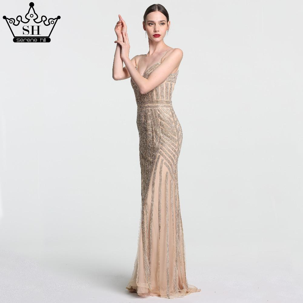 Robe De Soiree Evening Party Dress Real Photos Nude Color Tulle ...