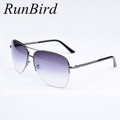 fe25ad4cdb3 RunBird 2016 New Sunglasses Men Polar Sun Glass Mens Driving Men s Semi-Rimless  Sun Glasses