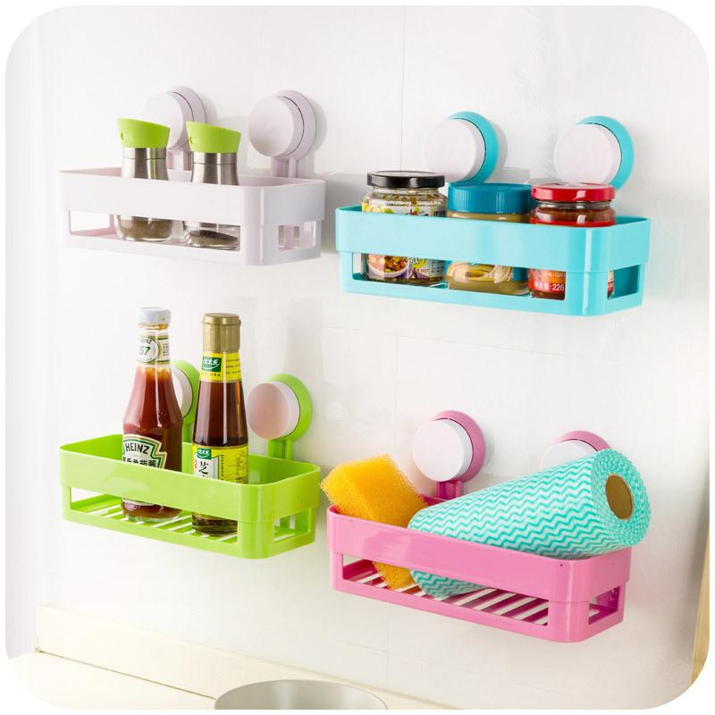 Delicieux Simple Life Suction Cup Bathroom Shelf Basket Rack Wall Hanging Wall Shelf  Storage Shelf Bathroom Accessories