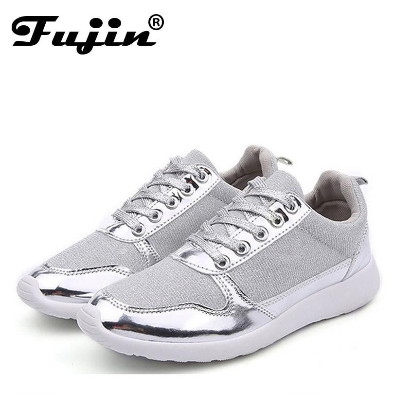 Size 36-41 brand New Chaussure Femme rubber 2017 Women casual shoes Gold Silver mesh woman breathable fashion casual summer shoe
