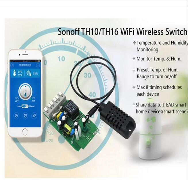 Sonoff TH 10A 16A WiFi Temperature controller Humidity Monitoring Smart Switch Wifi Remote Intelligent smart home
