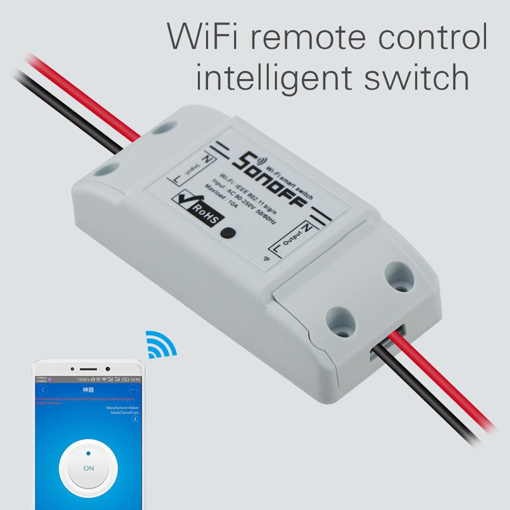 Sonoff Wifi Switch Universal Smart Home Automation Module Timer Diy Wireless Remote Controller Via Ios