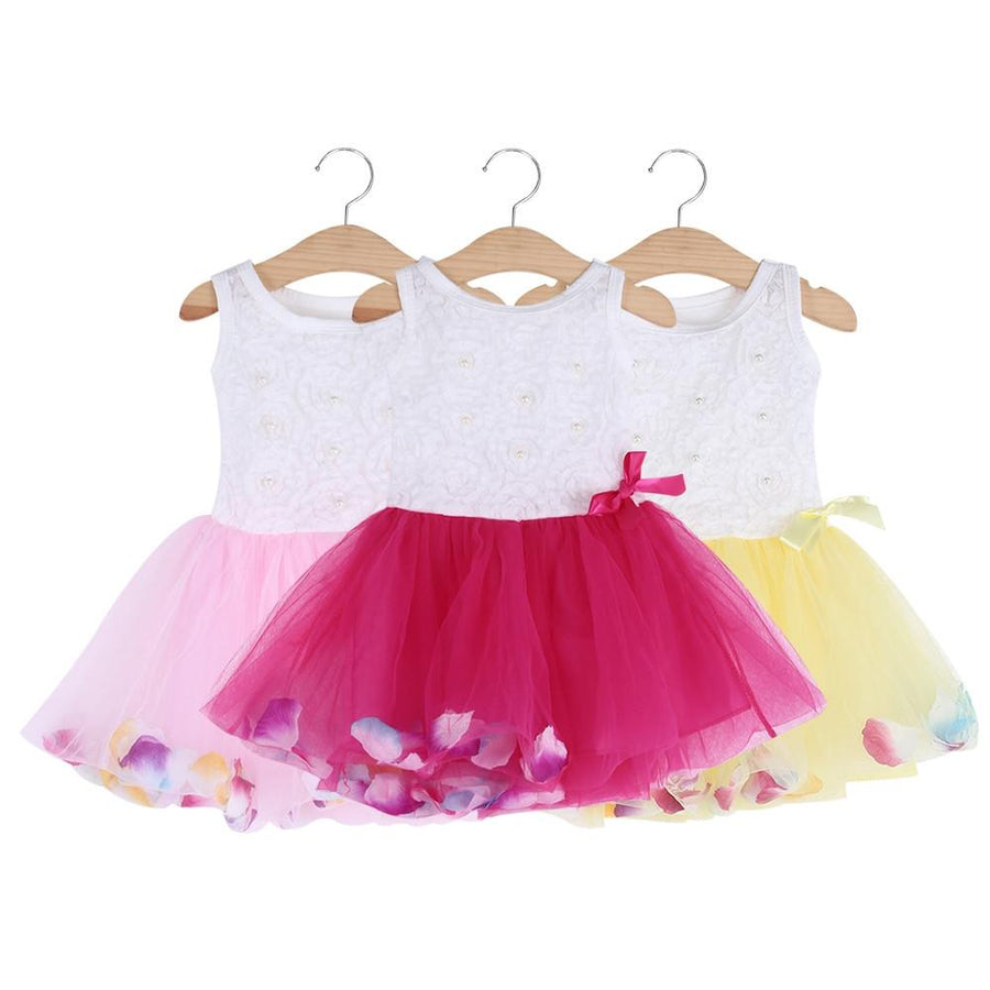 Summer Dress Cotton 2017 Baby Girls Clothing Petals Hem Tutu Party Baby Dresses Chiffon Girl Newborn Floral Princess Dresses