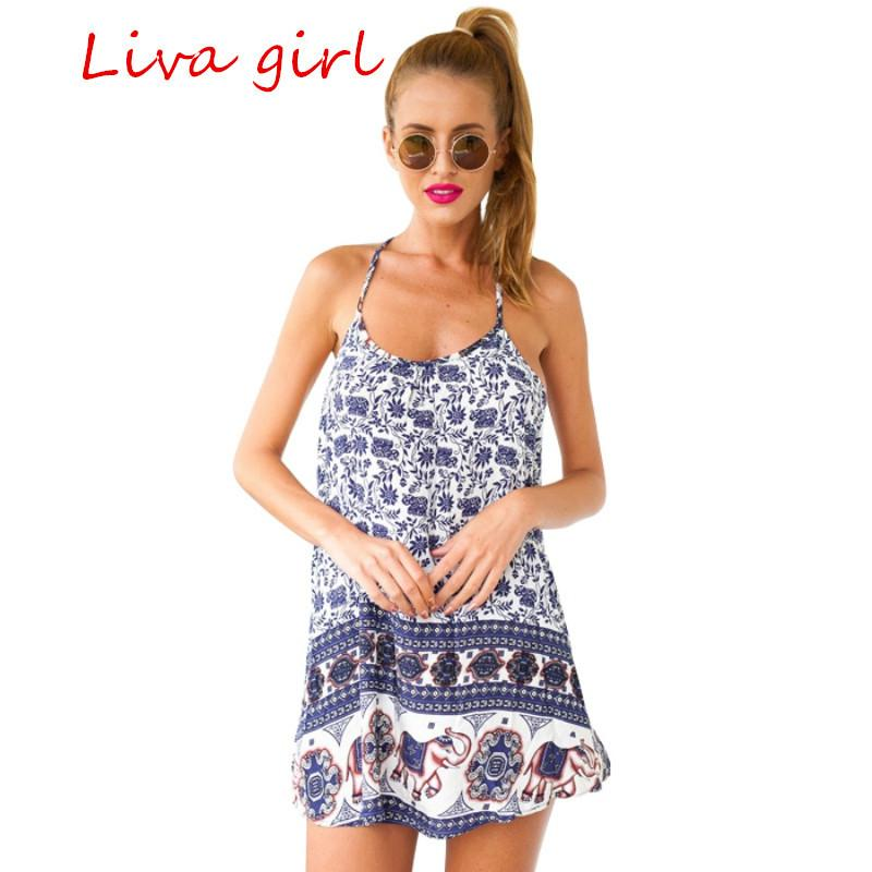Summer Women Casual Dresses Robe Retro Floral Printed Plus Size