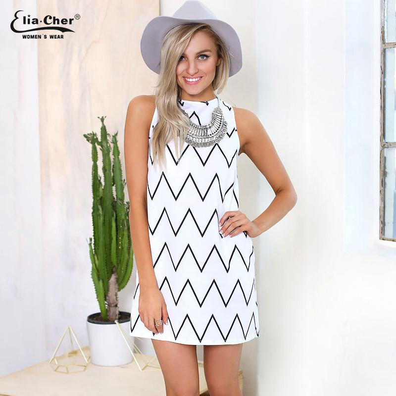 Summer Style Black And White Dress Causal Plus Size Women Clothing