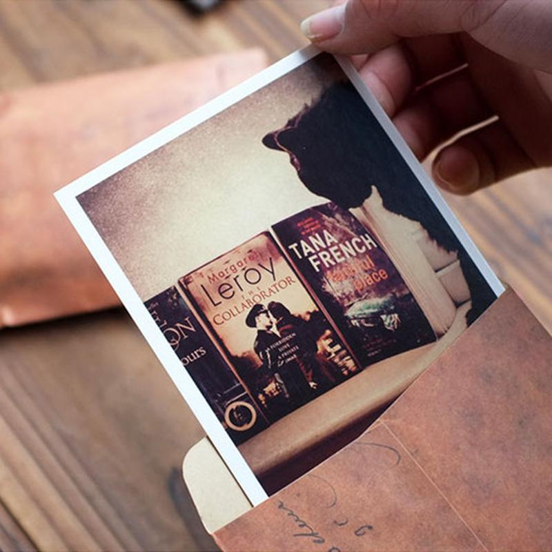 - 10PCs Old Style Brown Kraft Paper Retro Envelopes Style Invitation Letter Packaging For Retro Postcard Small Gift Letter -   jetcube