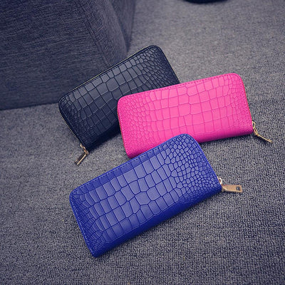 - 2016 Fashion Women Clutch PU Leather Wallets Female Long Wallet Stone Grain Coin Purses Mobile Phone Bags Lady Card & ID Holders -   jetcube