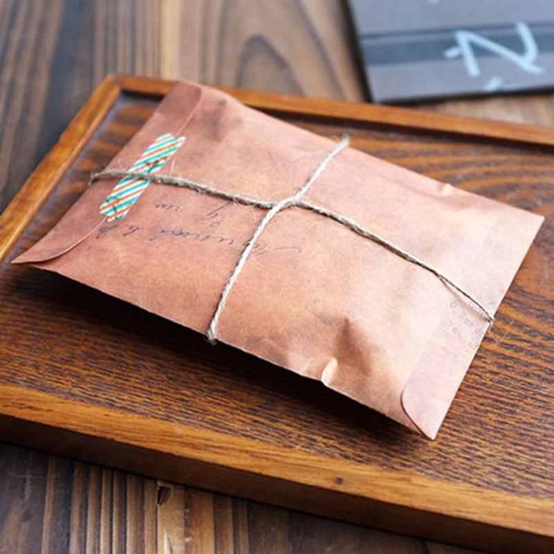 - 10PCs Old Style Brown Kraft Paper Retro Envelopes Style Invitation Letter Packaging For Retro Postcard Small Gift Letter - Default Title  jetcube