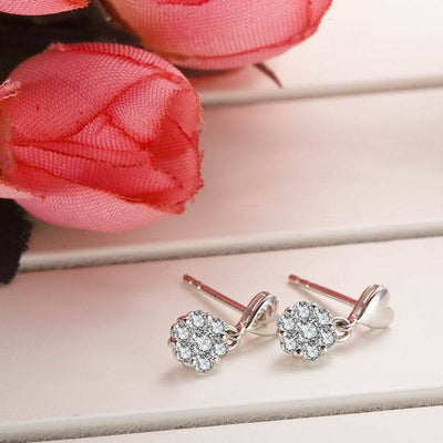 - 0.2carat Natural Diamond 18K Gold Stud Earrings for Women Fashion and Fine Jewelry for Wedding and Engagement Ceremony -   jetcube