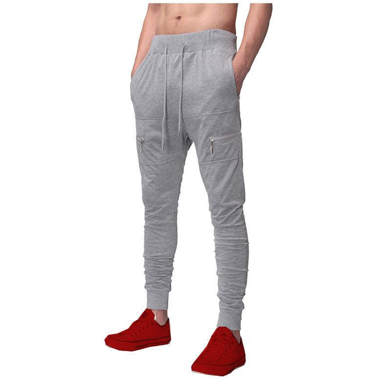 2017 Autumn Spring Men Pants Skinny Sweatpants Thin Joggers Casual Elastic Waist Fitness Workout Tracksuit Sweats Long Trousers