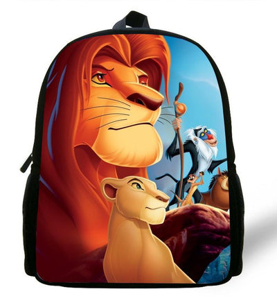 - 12-inch Simba The Lion King Backpack Kids Boys Cartoon The Lion King School Bags Children Girls Preschool Baby Kindergarten Bag -   jetcube