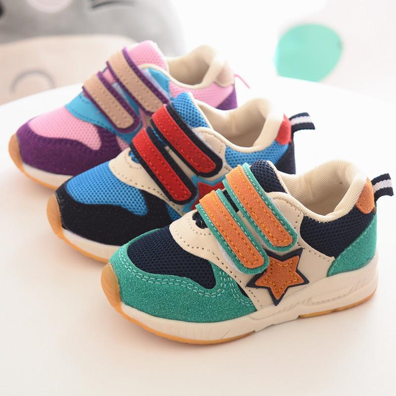 2018 New brand Lovely girls boys sports shoes breathable baby kids shoes  high quality hot sales 8f7696089f18