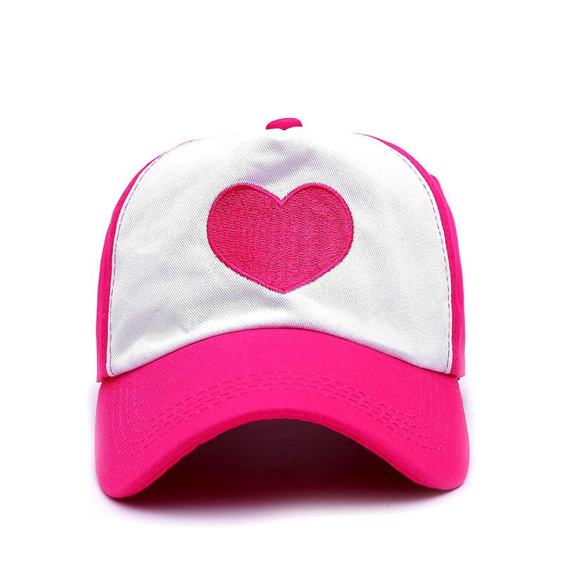 VORON Girls Children Cute Rose Heart Mesh Summer Caps Girl Cool Net Mesh Trucker Hat Cap Summer