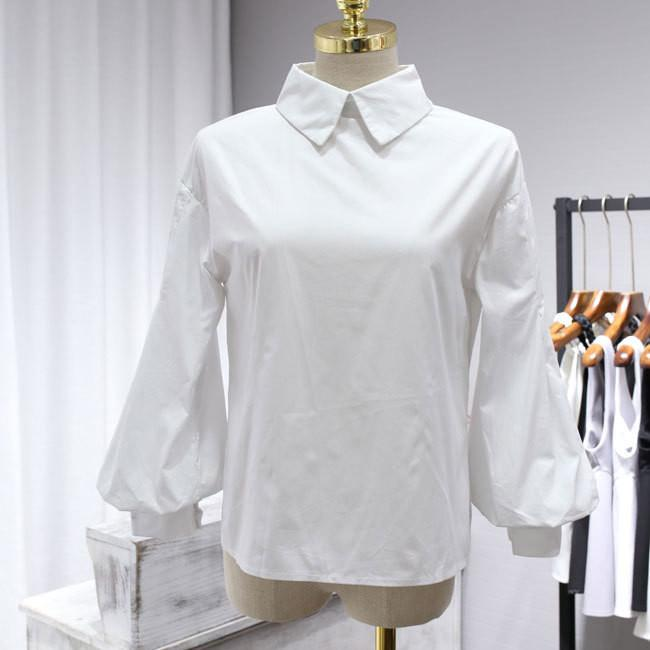 Vintage Lantern Sleeve Blouse 2017 New Fashion Women Turn-down Collar Single Breasted Buttons Loose Puff Tops Cotton White Shirt