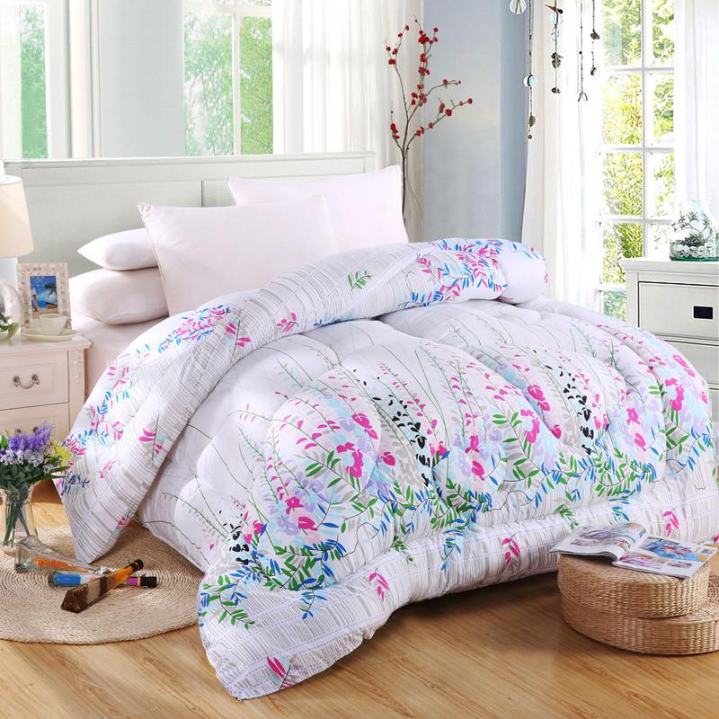 Winter Comforter Microfiber Edredon Quilted Thicken Bedding