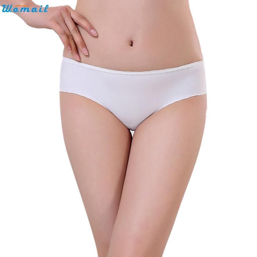 Womail Newly Design Women's Solid Breathable Seamless Comfortable Briefs Underwear Dec28 Drop Shipping