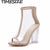 Women PVC Clear Heel Transparent Boots Peep Toe Ankle Boots Bootie High Top Perspex Lucite Summer Shoes Sandals Block Heel Pumps
