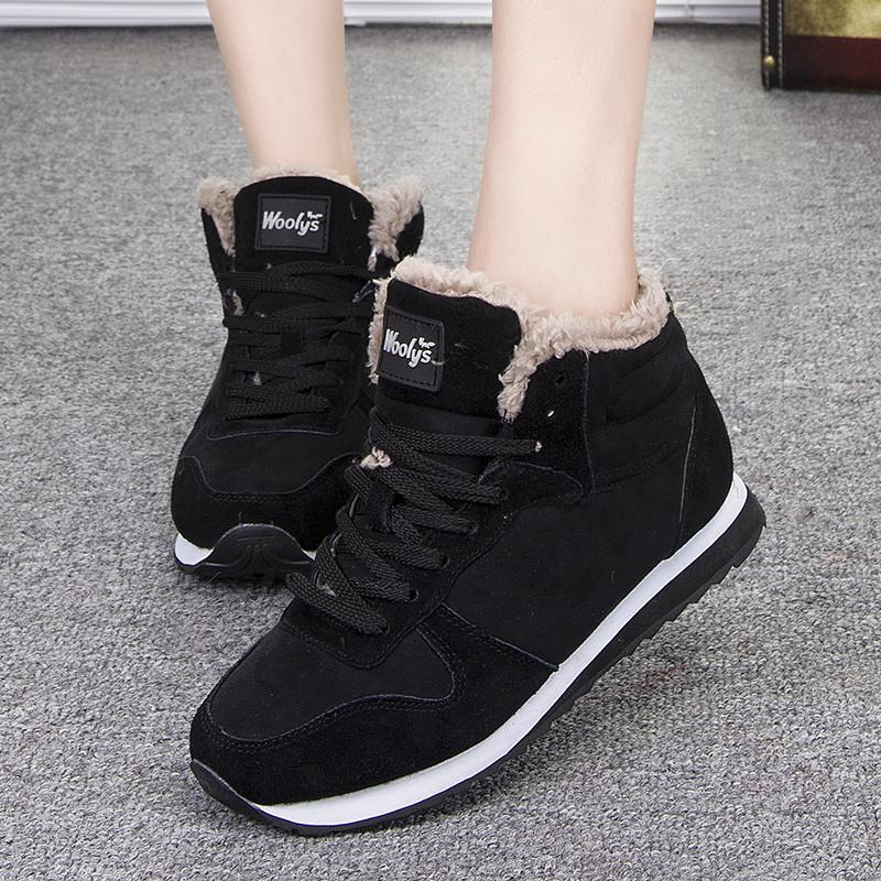 Women Shoes Warm Winter Shoes Women Casual Shoes Lace Up Women Trainers Black Blue