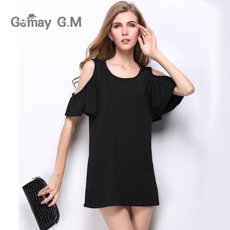Women Summer Beach Dresses Ladies Sexy Short Sleeve Cotton Grey Dress New Brand Woman Casual Jersey O-neck Tops clothes