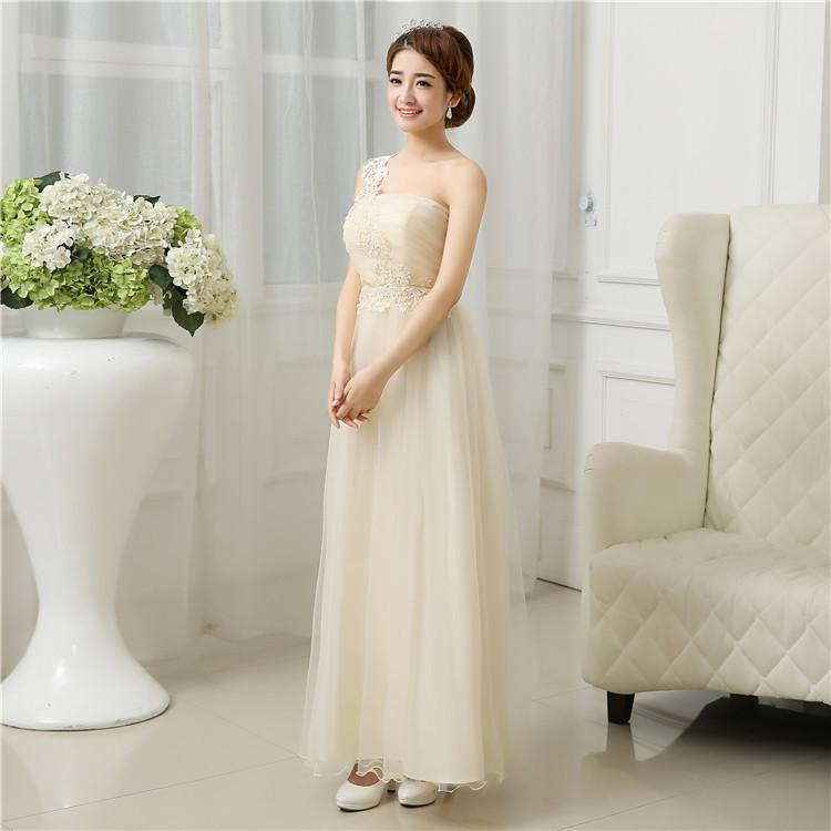 ZX55#2016 new bridesmaid dresses long gown bride wedding dinner toast Dress Bridesmaid Dress wholesale women dress champagne