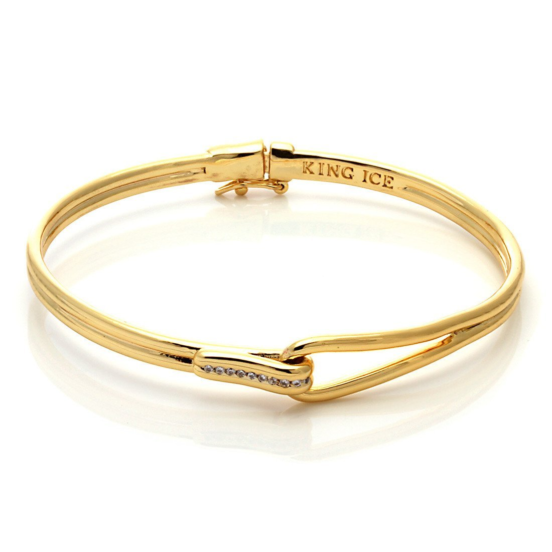 Bracelets - 14K Gold Double Bangle -   jetcube