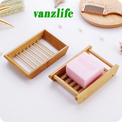 creative handmade soap holder draining soap box simple bamboo bathroom toilet soap box Japanese wooden soap holder Bathroom Storage VANZ International Limited- upcube