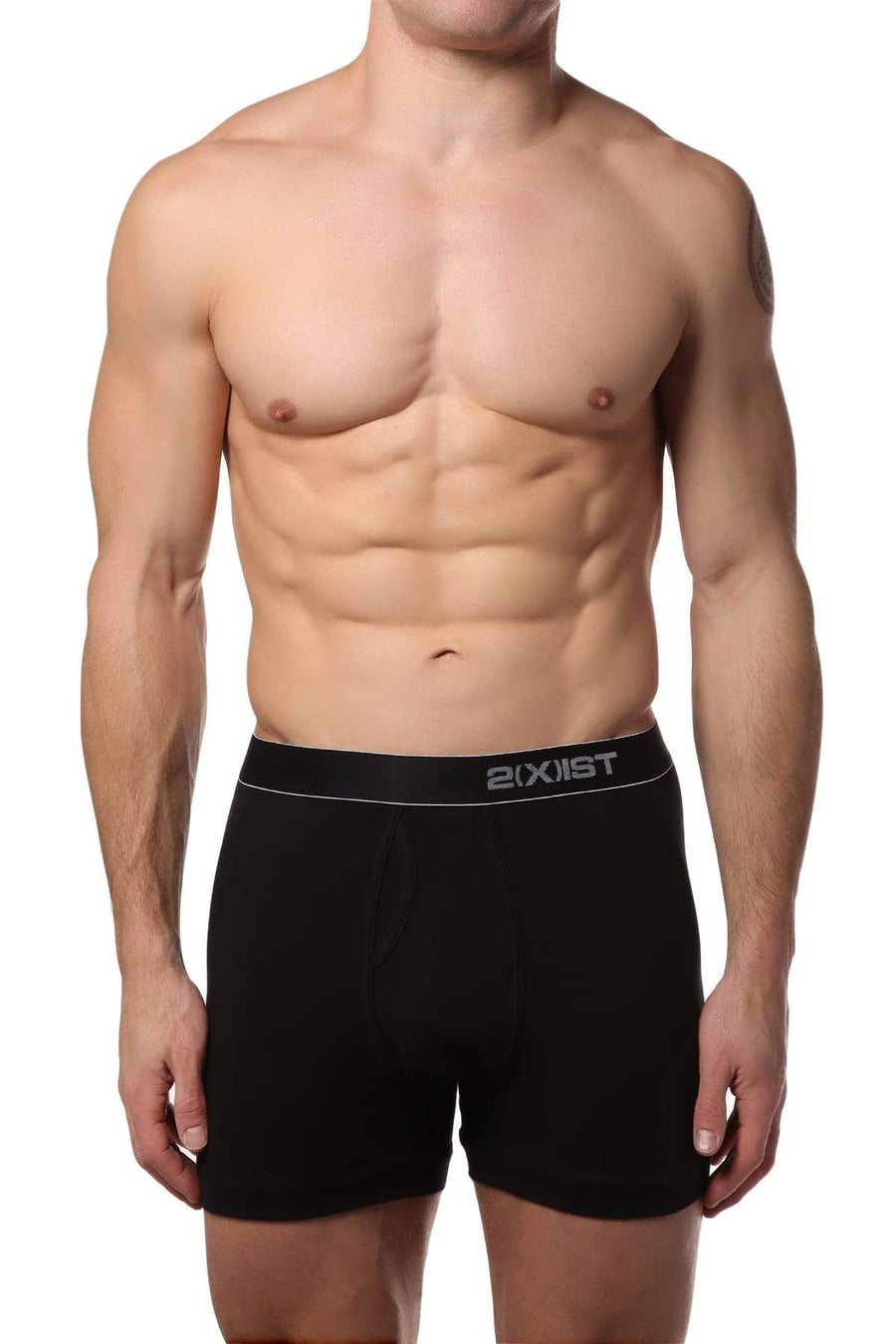 Boxer Briefs - 2(X)IST Black Pima Stretch Boxer -   jetcube