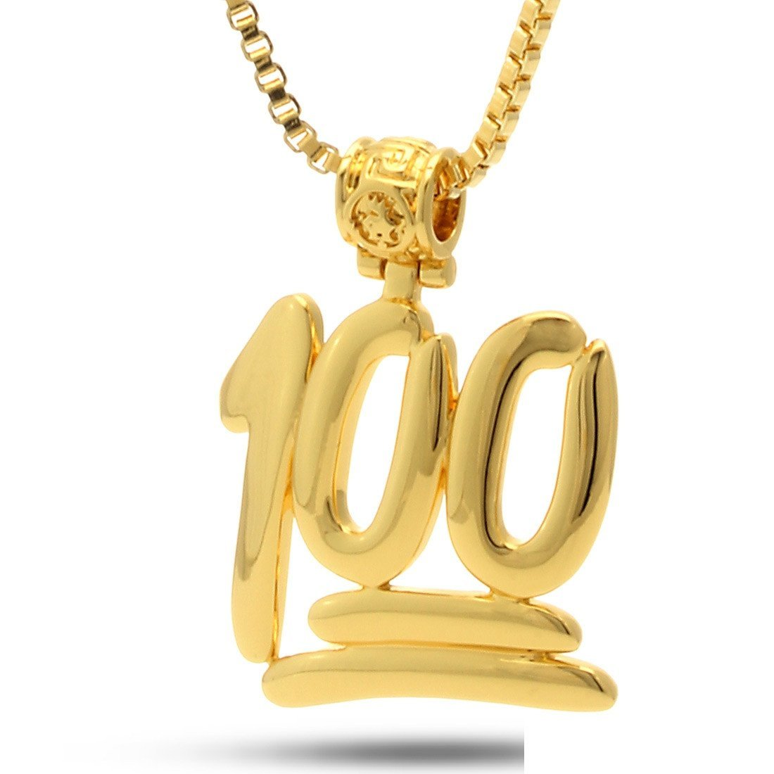 Sale - 14K Gold 100 Points Emoji Necklace -   jetcube