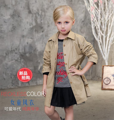 b7e8f26cb13e kids girl clothes children coat 2016 autumn spring outwear kids ...