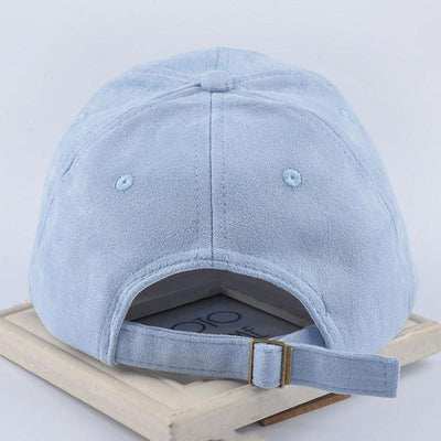 "Baseball Caps - ""metting joura""Pure color faux suede baseball cap can be adjusted Men's and women's leisure  hats accessories -   jetcube"